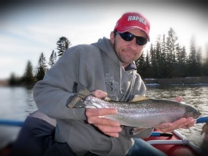 Catch and release fishing on the Bow River