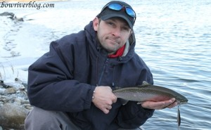 trout fishing the lower bow river December 10 2011