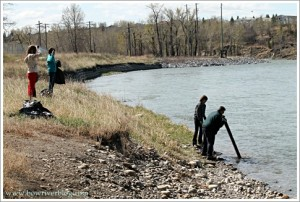 Clean up of the Bow River Calgary, Alberta