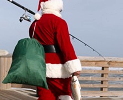 Santa goes fishing this charistmas
