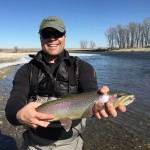 Bow River trout fishing March 10 2015