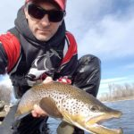 winter spin fishing the bow river alberta