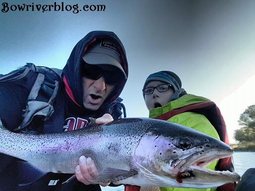 fall spin fishing the Bow River