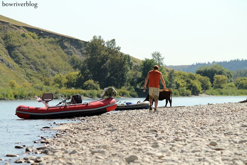 Lower Bow River rest stop