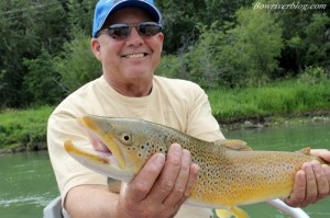 Guided fishing trips to float the bow river for brown trout