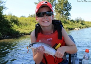 Spinner fishing the Bow River using Panther Matrtins