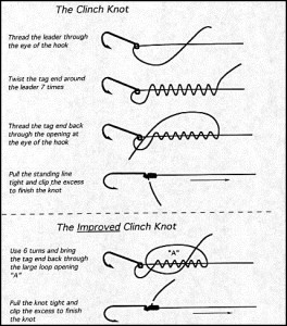 The clinch knot and the improved clinch knot