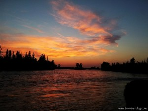 A wonderful Bow River summer sunset