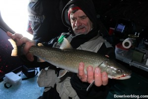 Catch and release Bull Trout Lower Kananaskis Lake